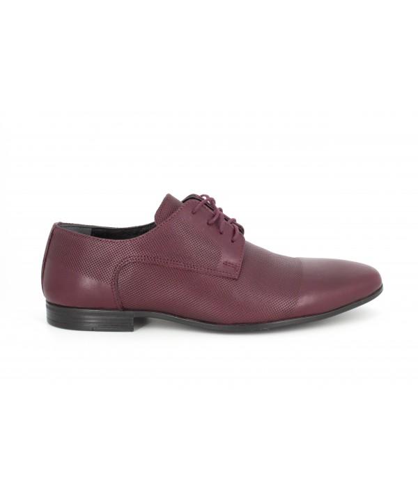 Pantofi barbati Goretti din piele naturala b41209 bordo