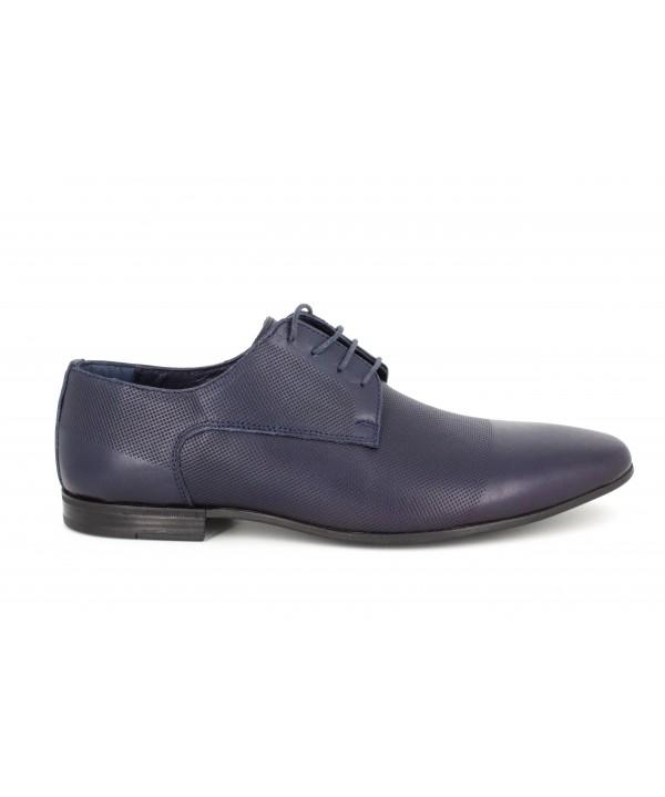 Pantofi barbati Goretti din piele naturala b41209 navy