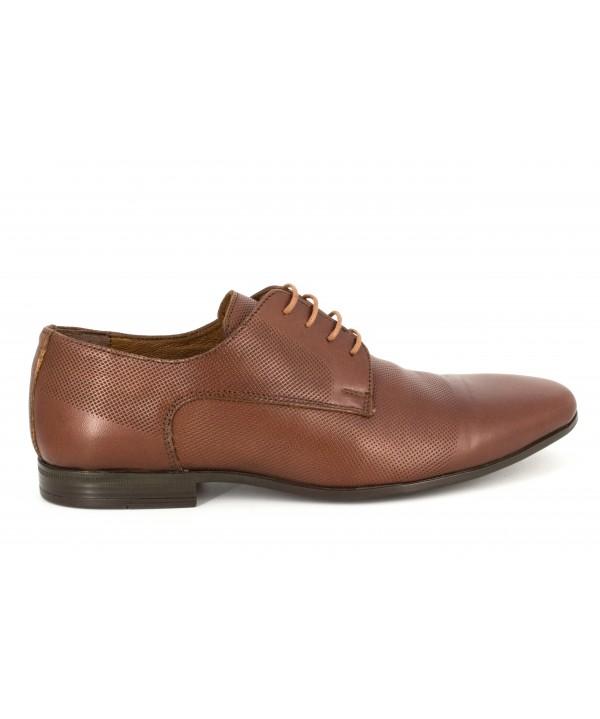 Pantofi barbati Goretti din piele naturala b41209 tan