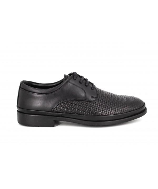 Pantofi barbati Goretti din piele naturala b6291black wiker