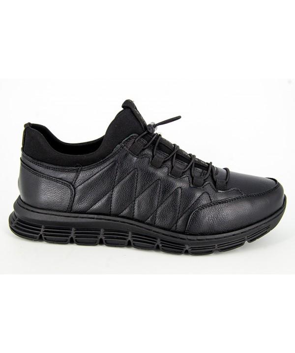 Pantofi sport GORETTI  Negru din piele naturala B24-2018