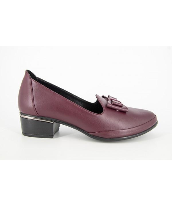 Pantofi eleganti ANNA VIOTTI Bordo din piele naturala D943