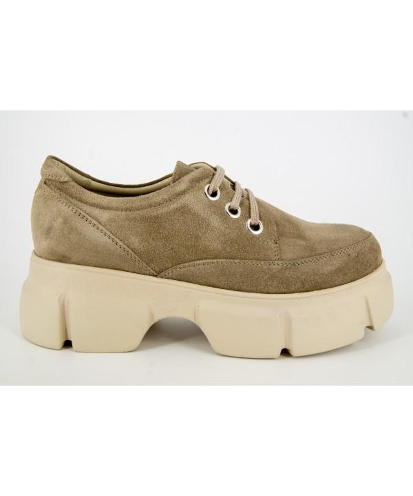 Pantofi dama ANNA VIOTTI Bej din piele naturala D1194