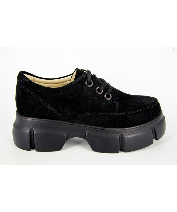 Pantofi dama ANNA VIOTTI Negru Velur din piele naturala D1194