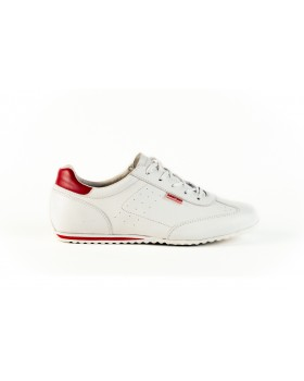 Pantofi sport Bit-Bontimes albi din piele naturala de vitel