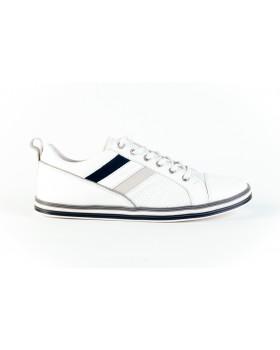Pantofi casual dama Bit - Bontimes albi  din piele naturala