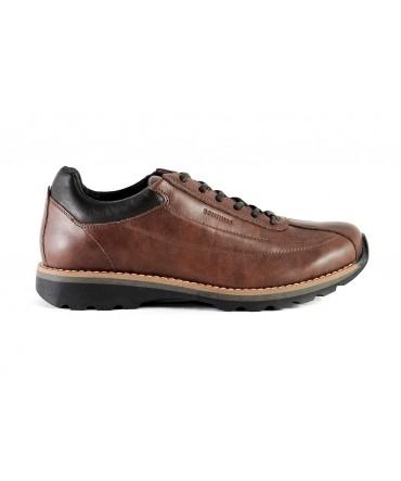 Pantofi sport Bontimes Welt maro din piele naturala de vitel
